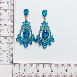 Prom Pageant Bridal Jewelry - Featured Item Crystal Chandelier Event Earrings e2